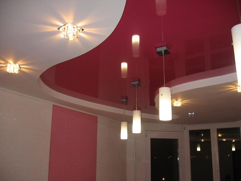 Отделка потолка с использованием гипсокартона