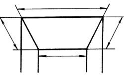Определение площади потолка