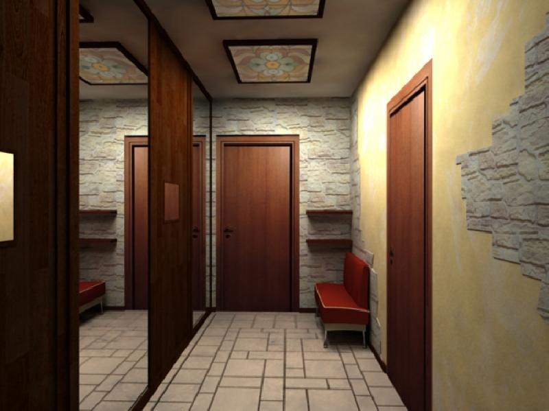 Дизайн прихожей комнаты в доме