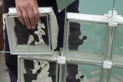 Монтаж перегородки из стеклоблоков