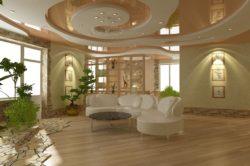 Потолок из гипсокартона замысловатого дизайна