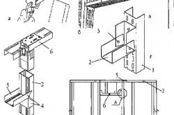 Схема установки каркаса дверного проема