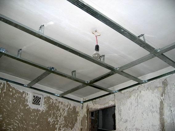 Установка потолков из гипсокартона своими руками