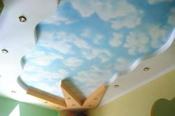 Точечные светильники в потолке из гипсокартона