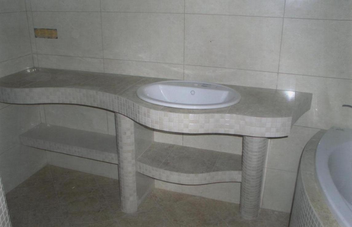Мозаичная столешница в ванную richlite бумажная столешница